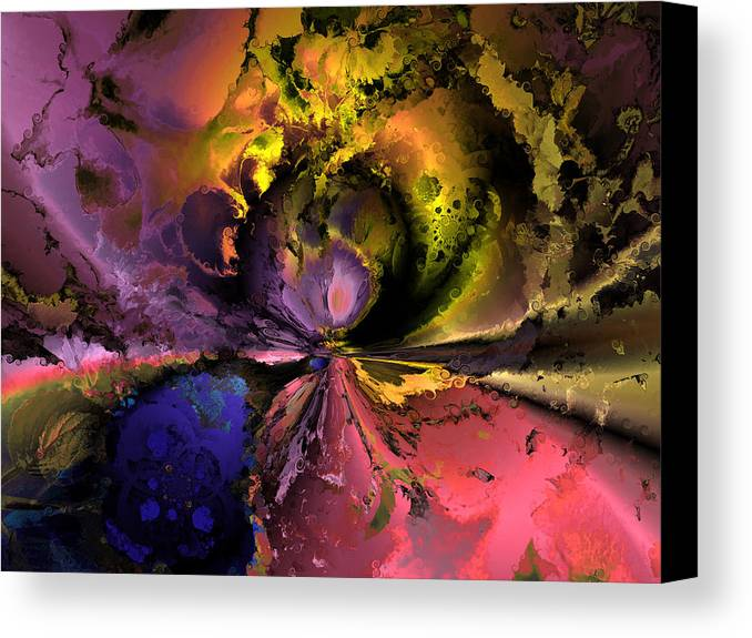 Digital Canvas Print featuring the digital art Song Of The Cosmos by Claude McCoy