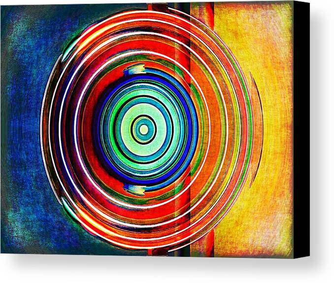 Abstract Canvas Print featuring the digital art Spot On by Wendy J St Christopher