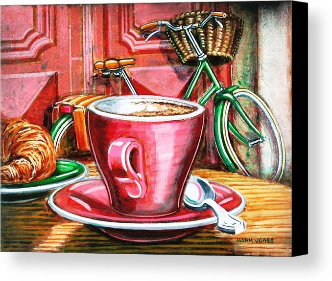 Still Life Canvas Print featuring the painting Still Life With Green Dutch Bike by Mark Howard Jones