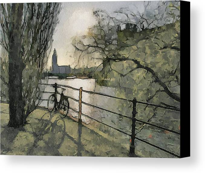 Stockholm Canvas Print featuring the digital art Stockholm 10 by Yury Malkov