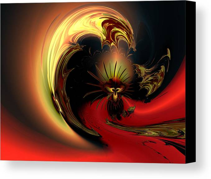 Digital Canvas Print featuring the digital art The Glory Of His Eminance by Claude McCoy