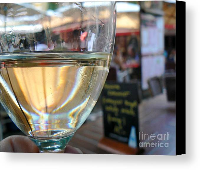 Wine Canvas Print featuring the photograph Vin Blanc by France Art