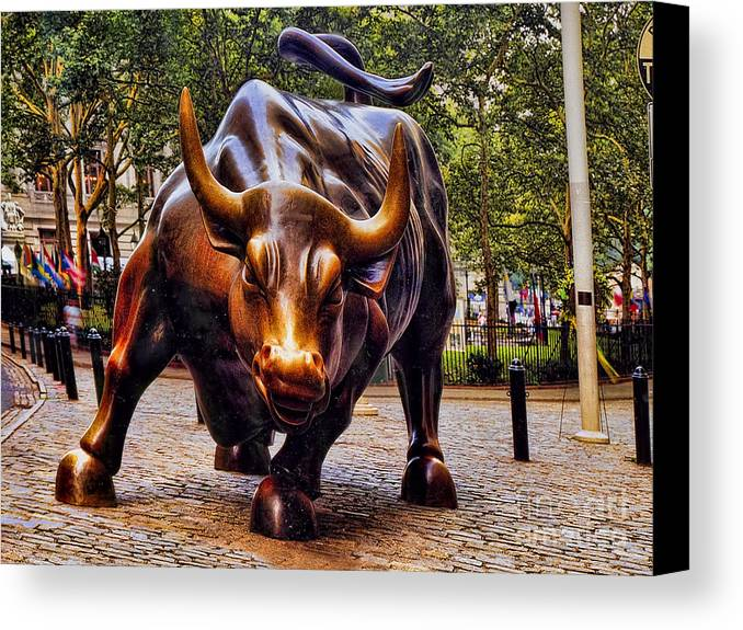 Wall Street Bull Canvas Prints And Wall Street Bull Canvas