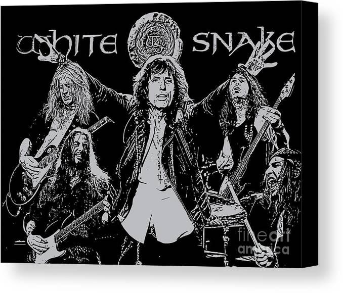 Whitesnake Canvas Print featuring the digital art Whitesnake No.01 by Caio Caldas