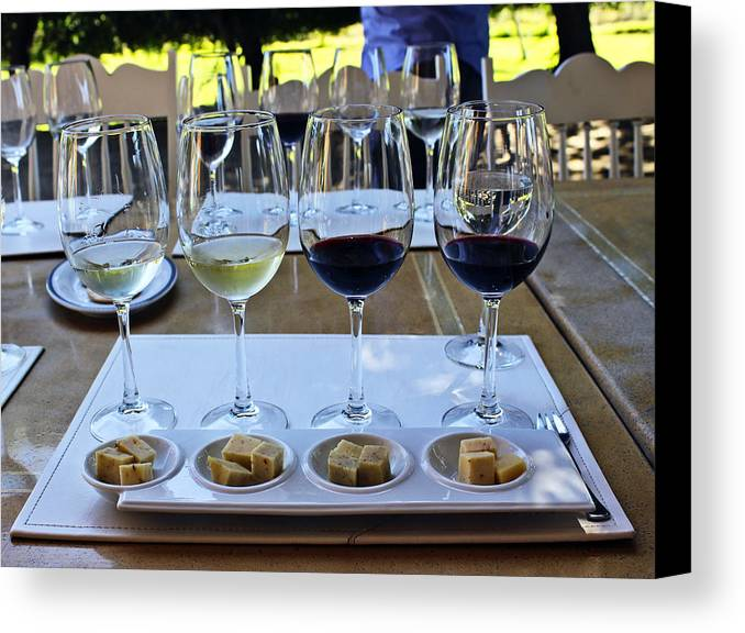 Wine Canvas Print featuring the photograph Wine And Cheese Tasting by Kurt Van Wagner
