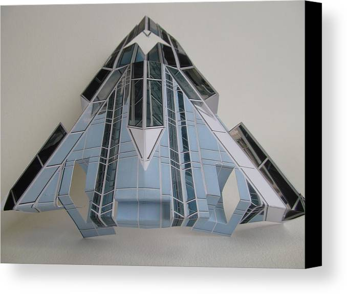Paper Canvas Print featuring the sculpture Architecture Reconstruction by Alfred Ng