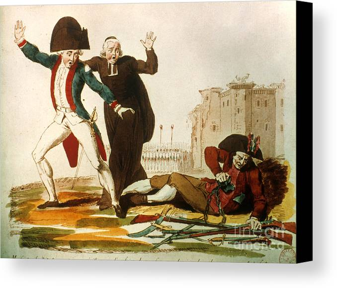 1792 Canvas Print featuring the photograph French Revolution, 1792 by Granger