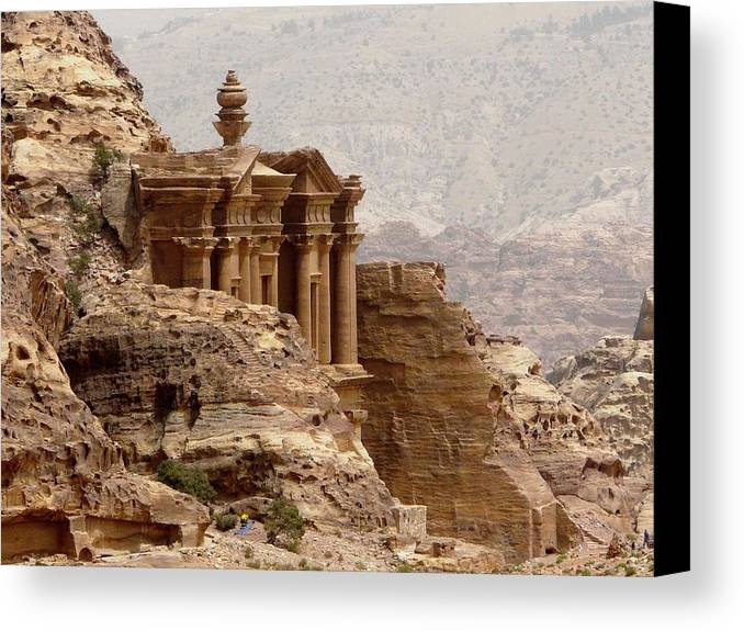 Horizontal Canvas Print featuring the photograph Al-deir (monastery) by Cute Kitten Images