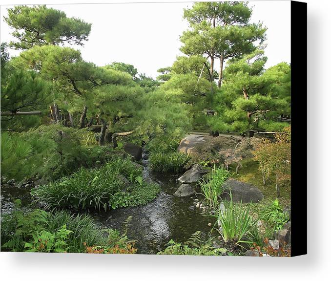 Japan Canvas Print featuring the photograph Kokoen Samurai Gardens - Himeji City Japan by Daniel Hagerman