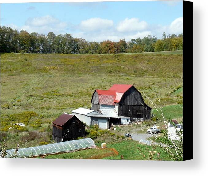 Architecture Canvas Print featuring the photograph Mountain Farm by John Turner