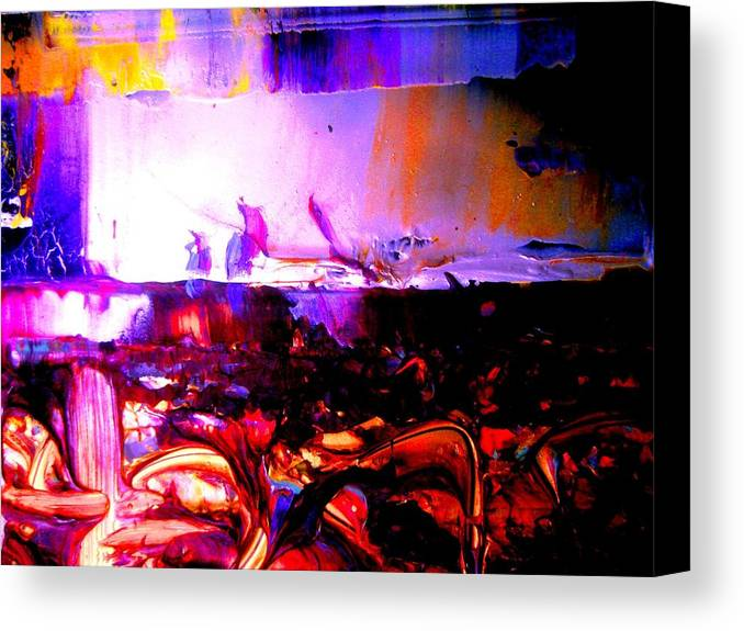 Expressive Abstract Canvas Print featuring the painting My Understanding Of Art by Allen n Lehman
