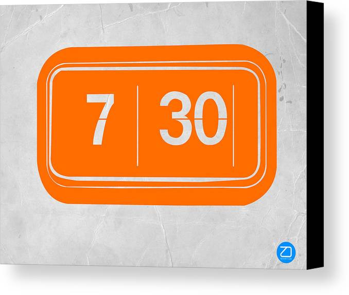 Canvas Print featuring the photograph Orange Alarm by Naxart Studio
