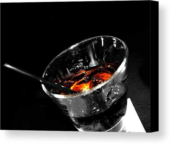 Elm Canvas Print featuring the photograph Rye And Coke Please by Jerry Cordeiro