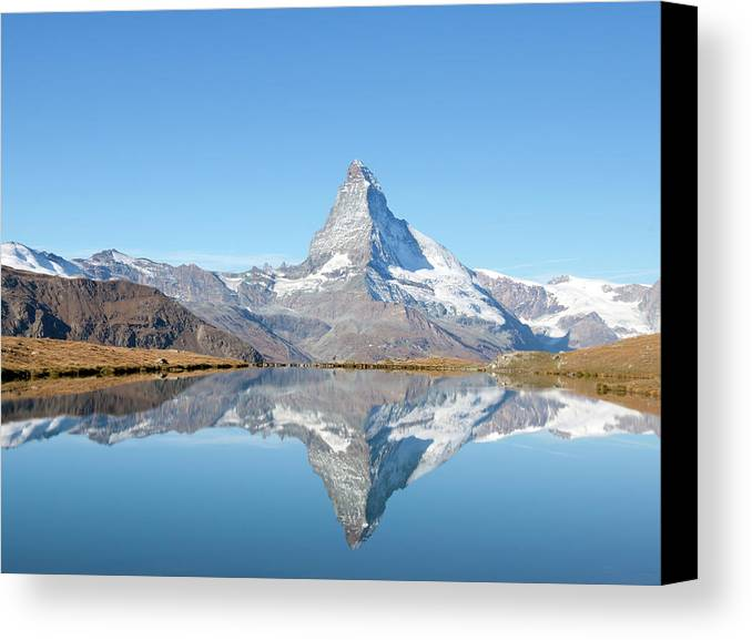 Horizontal Canvas Print featuring the photograph Serene Matterhorn by Monica and Michael Sweet