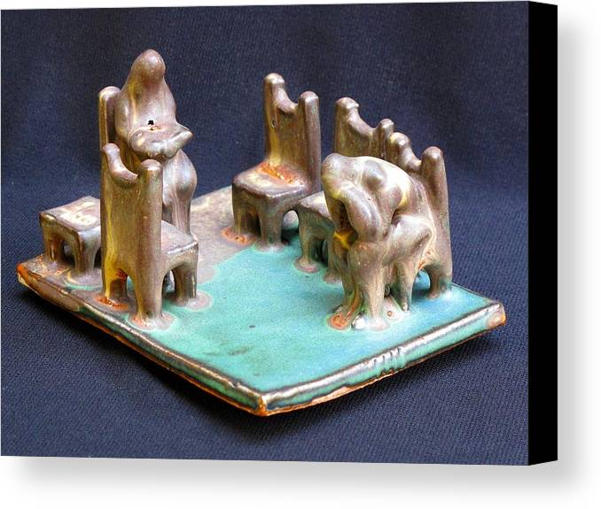 Sculpture Canvas Print featuring the photograph Waiting Room by Solveig Singleton
