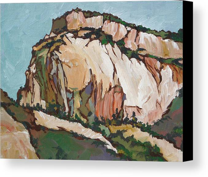 Zion Canvas Print featuring the painting Zion National Park by Sandy Tracey