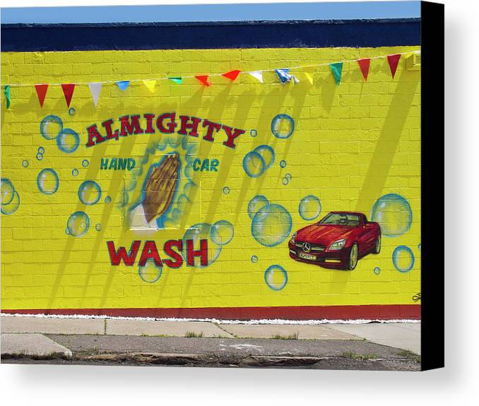Detroit Canvas Print featuring the digital art Almighty Car Wash by David Kyte