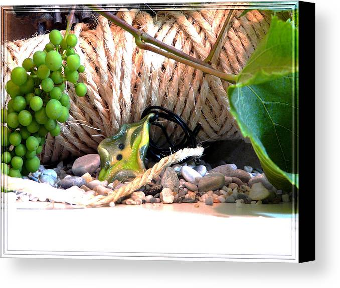 Jewel Canvas Print featuring the photograph Among Ropes And Grapes by Chara Giakoumaki