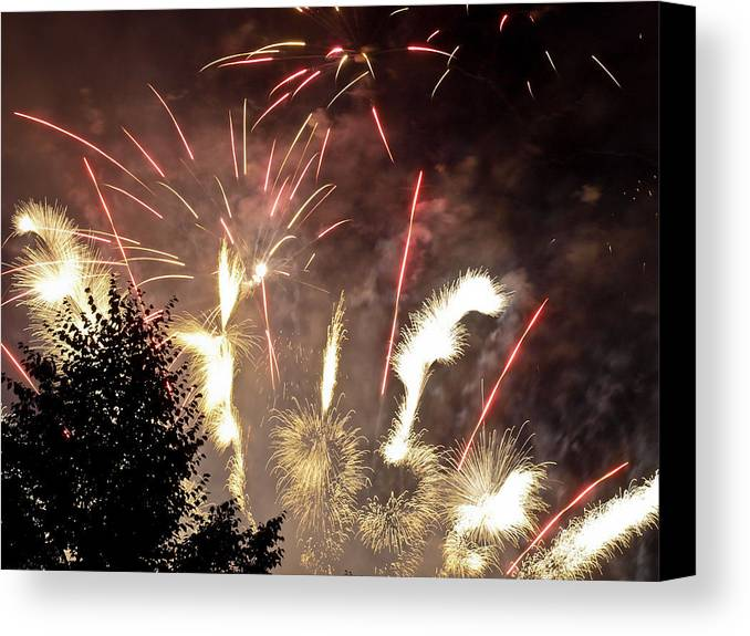 4th Canvas Print featuring the photograph Celebration by Jim DeLillo