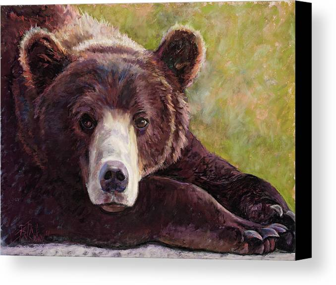 Bear Canvas Print featuring the painting Da Bear by Billie Colson