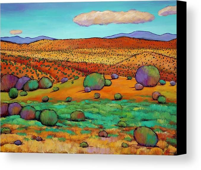 New Mexico Canvas Print featuring the painting Desert Day by Johnathan Harris