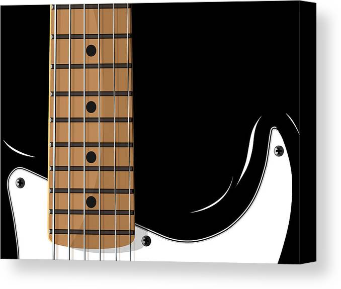 electric Guitar Canvas Print featuring the digital art Electric Guitar by Michael Tompsett