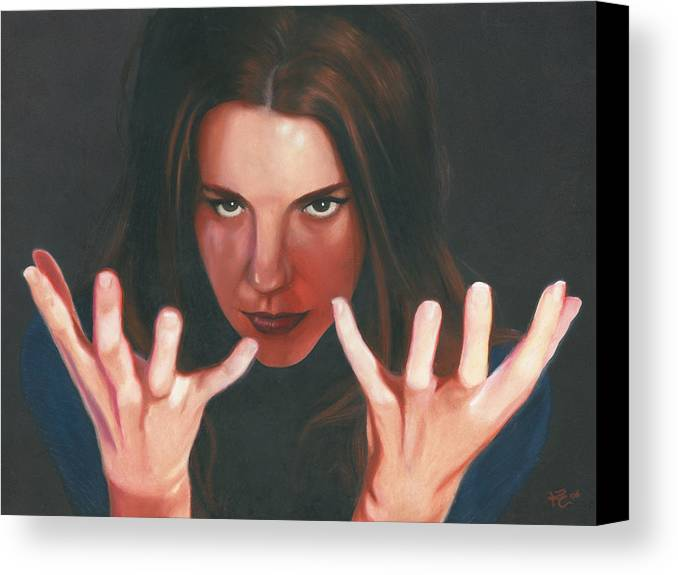 Dramatic Canvas Print featuring the painting Entrancing by Kevin Clark