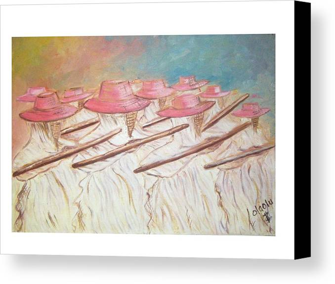 Abstract Canvas Print featuring the painting Eyo Festival by Olaoluwa Smith