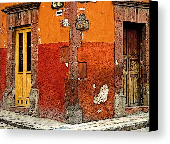 Darian Day Canvas Print featuring the photograph La Esquina 2 by Mexicolors Art Photography