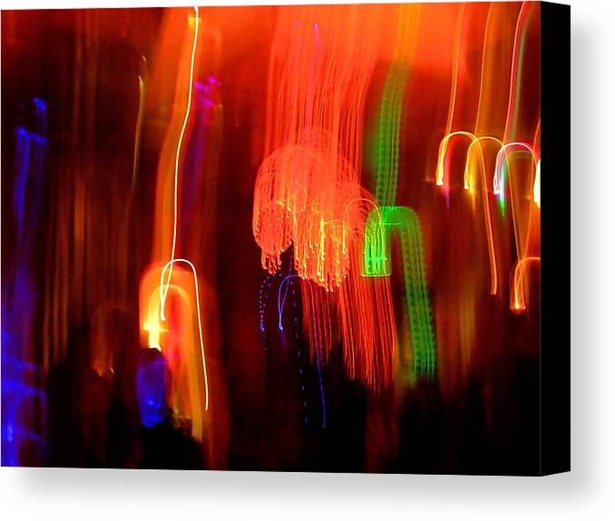 Abstract Canvas Print featuring the photograph Light Falling by Elizabeth Hoskinson