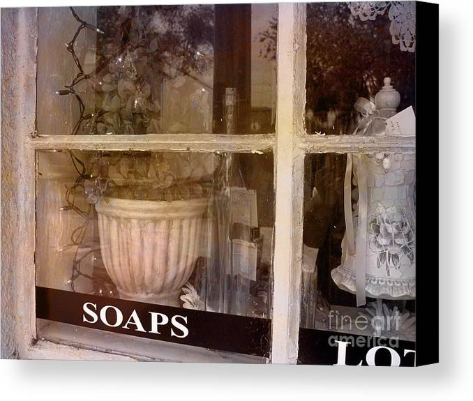 Retro Canvas Print featuring the photograph Need Soaps by Susanne Van Hulst