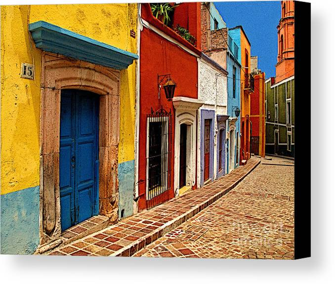 Darian Day Canvas Print featuring the photograph Neighbors Of The Yellow House by Mexicolors Art Photography