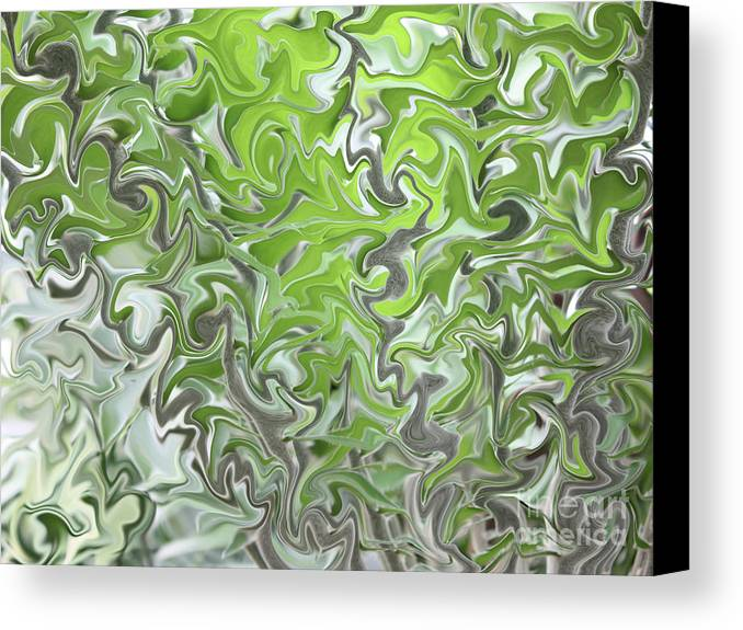 Abstract Canvas Print featuring the photograph Soft Green And Gray Abstract by Carol Groenen