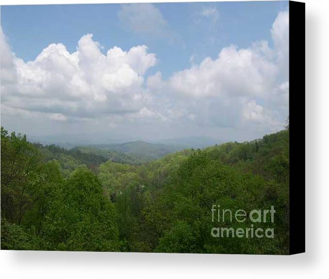 Mountains Canvas Print featuring the photograph View From Ober Gatlinburg by Barb Montanye Meseroll