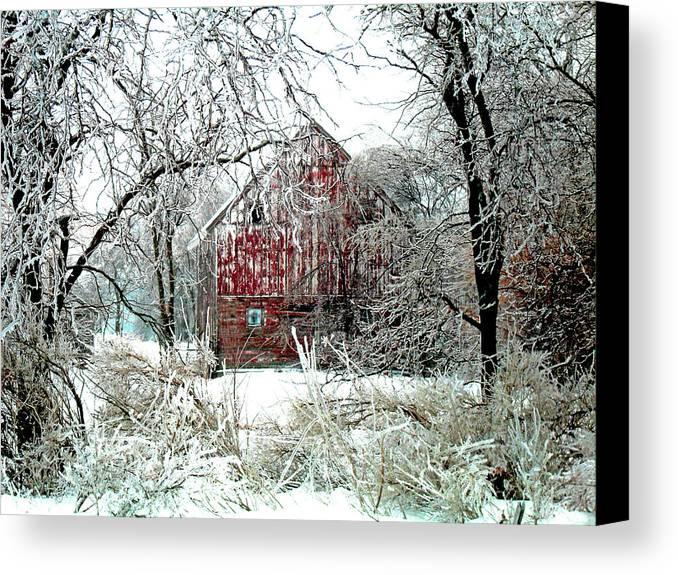 Christmas Canvas Print featuring the photograph Winter Wonderland by Julie Hamilton