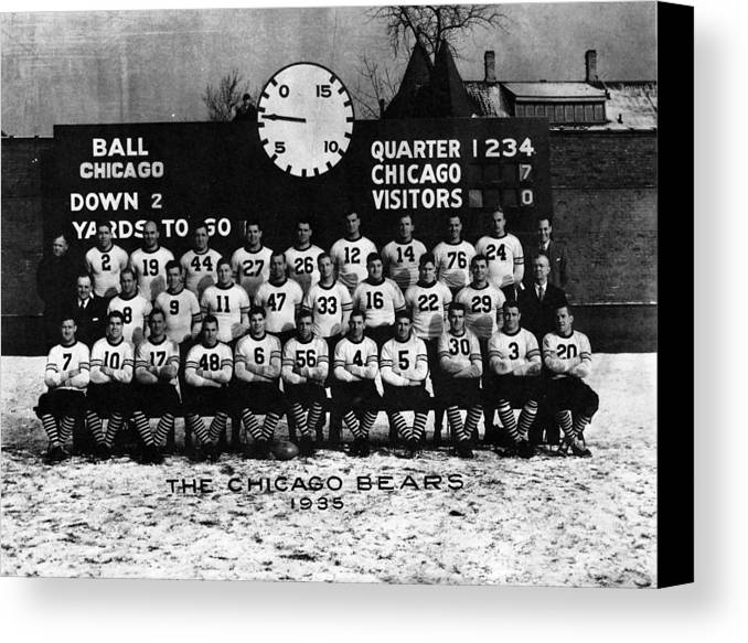 George Canvas Print featuring the photograph Chicago Football 1935 by Retro Images Archive