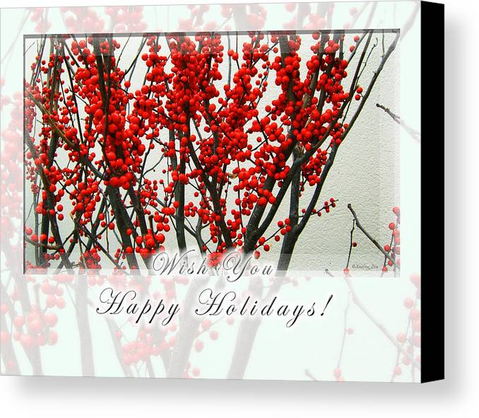 Christmas Canvas Print featuring the photograph Happy Holidays by Xueling Zou