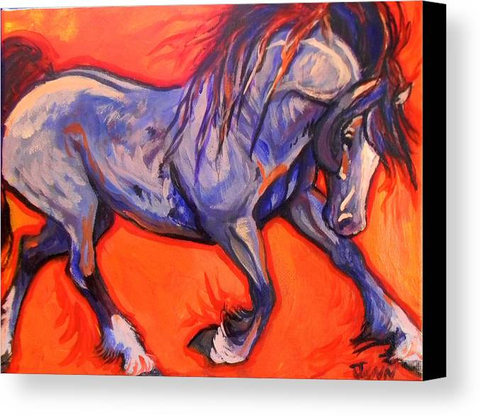Horse Canvas Print featuring the painting Pride by Jenn Cunningham