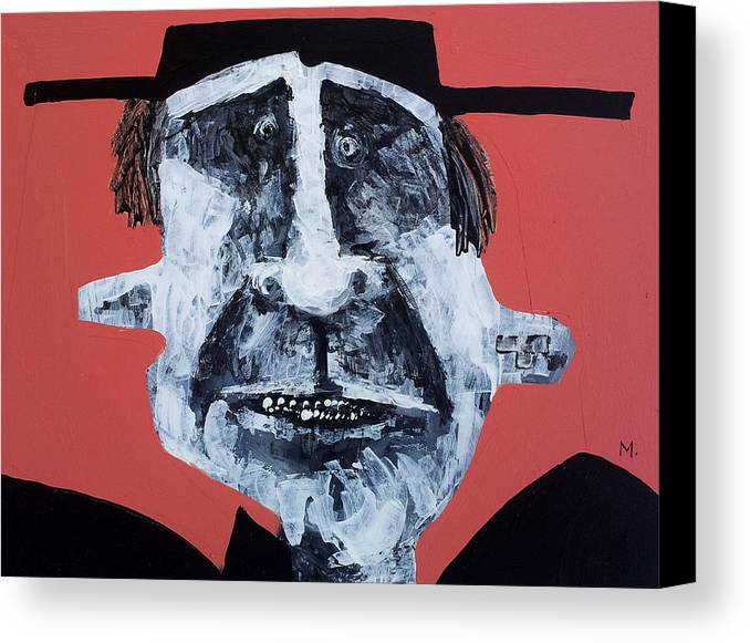 Face Canvas Print featuring the painting Protesto No. 12 by Mark M Mellon