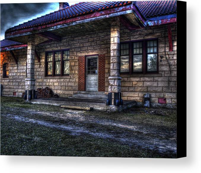 Old train station photographs canvas prints and old train for Railroad stations for sale
