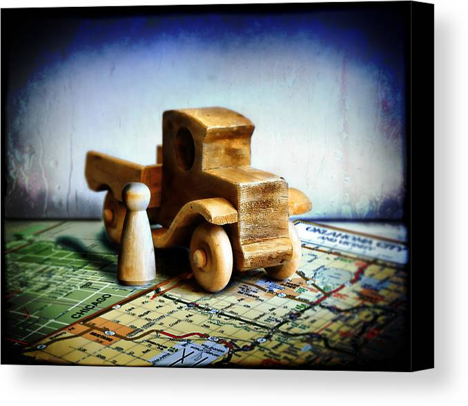 Toy Truck Canvas Print featuring the photograph Gone Truckin by Adam Vance