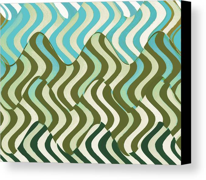 Abstract Art Canvas Print featuring the mixed media Sun Canopy I by Ricki Mountain