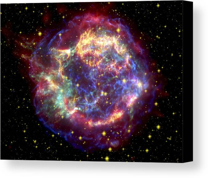Stars Canvas Print featuring the photograph The Many Sides Of The Supernova Remnant by Nasa
