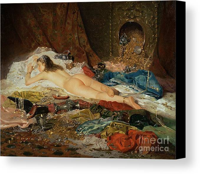 Wealth Canvas Print featuring the painting A Wealth Of Treasure by Della Rocca