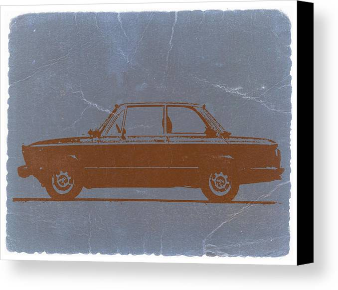 Canvas Print featuring the photograph Bmw 2002 Orange by Naxart Studio