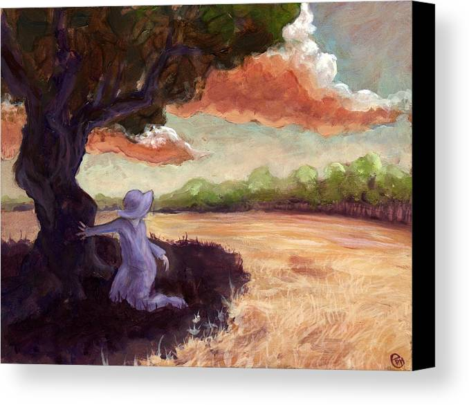 Woman Canvas Print featuring the painting Clarissa by Ethan Harris