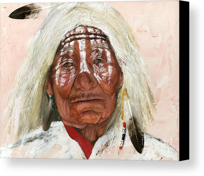 Southwest Art Canvas Print featuring the painting Ghost Shaman by J W Baker