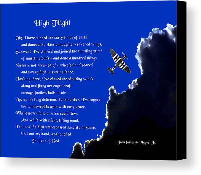 High Flight Canvas Print featuring the photograph High Flight by Mike Flynn
