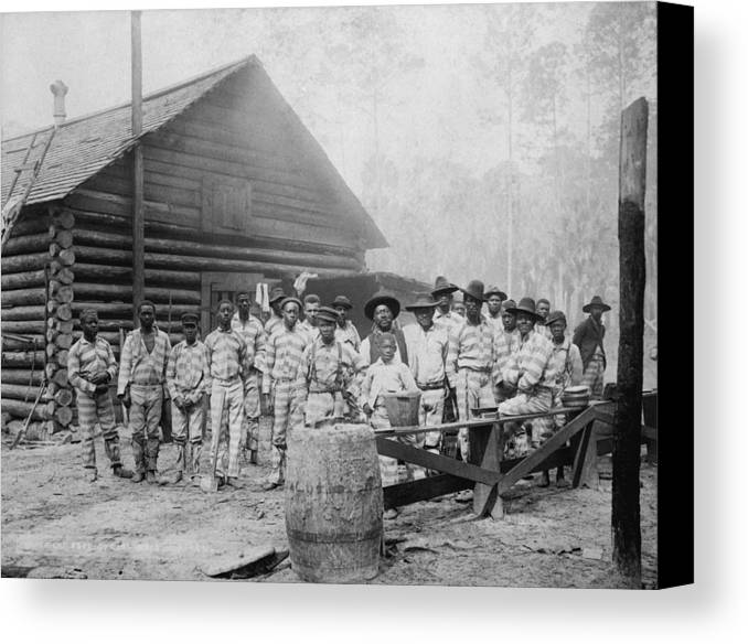 History Canvas Print featuring the photograph Large Group Of African American Men by Everett