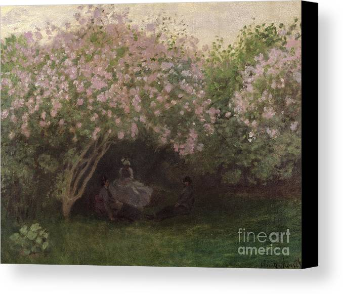 Lilacs Canvas Print featuring the painting Lilacs by Claude Monet